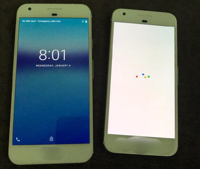 google pixel xl and x